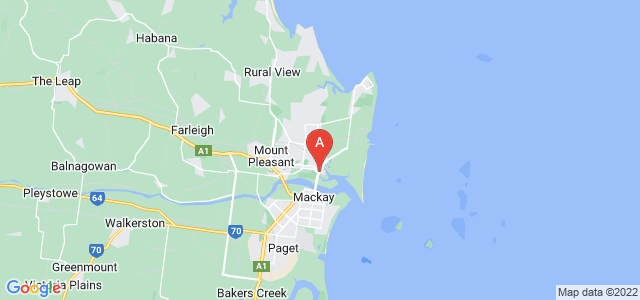 Google static map for North Mackay