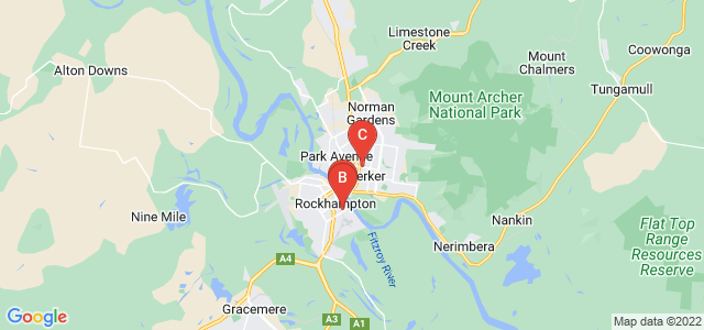 Google static map for Rockhampton