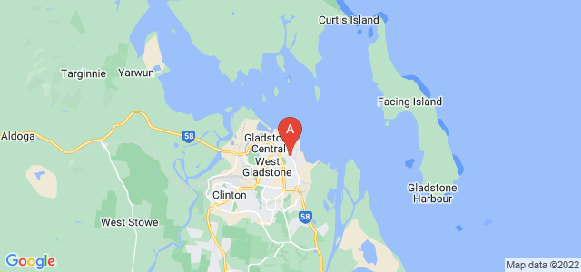 Google static map for South Gladstone