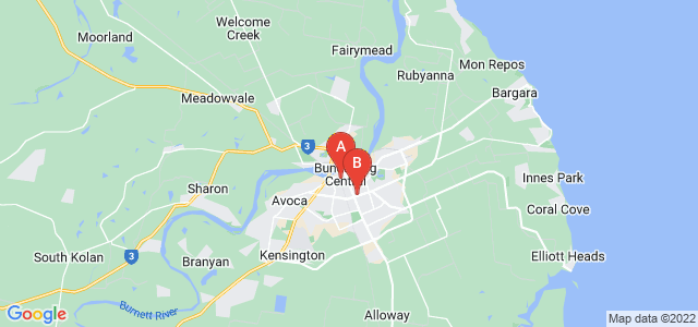 Google static map for Bundaberg