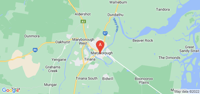 Google static map for Maryborough