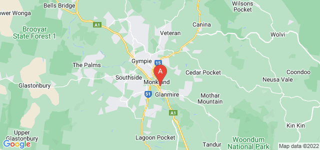 Google static map for Gympie
