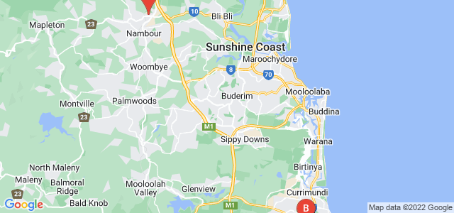 Google static map for Sunshine Coast
