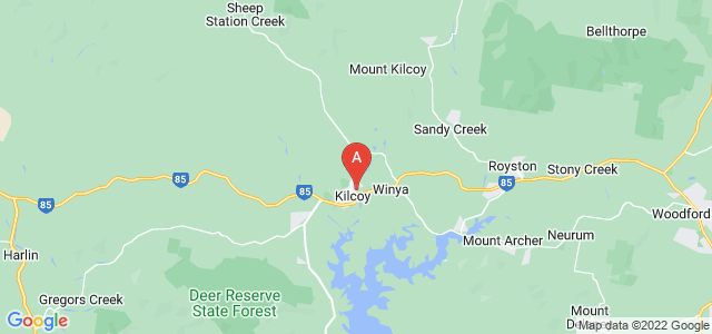 Google static map for Kilcoy
