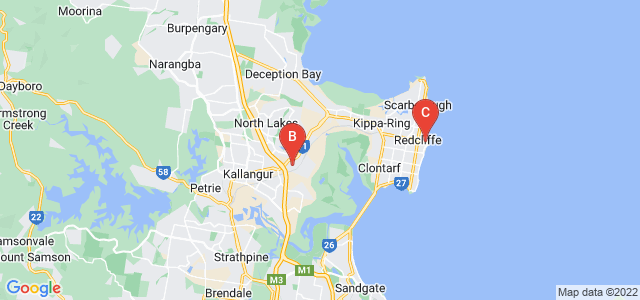 Google static map for Moreton Bay