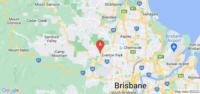 Google static map for Arana Hills