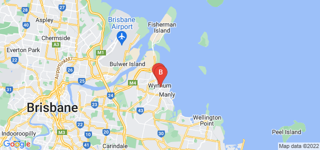 Google static map for Wynnum