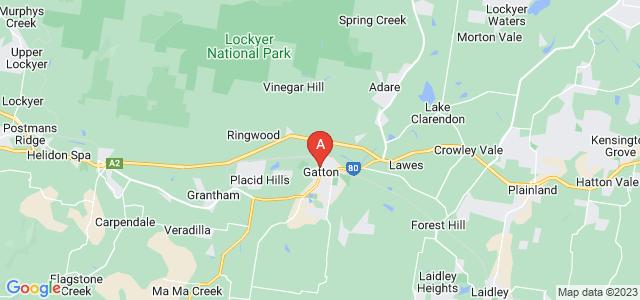 Google static map for Lockyer Valley