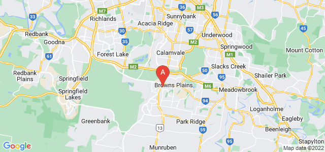 Google static map for Browns Plains