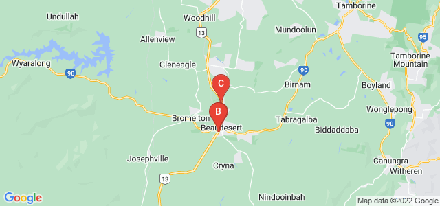 Google static map for Beaudesert
