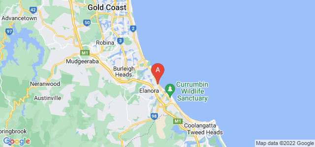 Google static map for Palm Beach