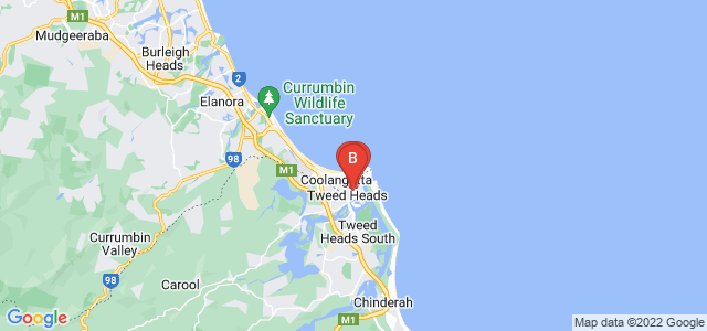 Google static map for Tweed Heads