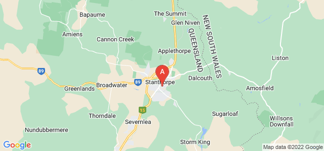 Google static map for Stanthorpe