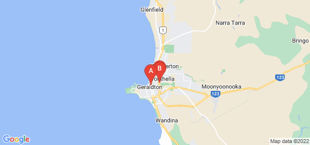 Google static map for Geraldton
