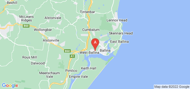 Google static map for Ballina