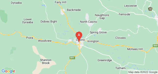 Google static map for Richmond Valley