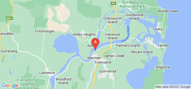 Google static map for Clarence Valley