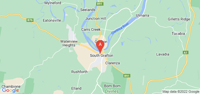 Google static map for South Grafton