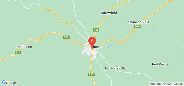 Google static map for Glen Innes
