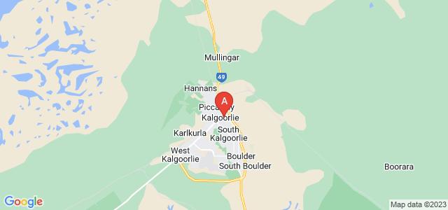 Google static map for Kalgoorlie