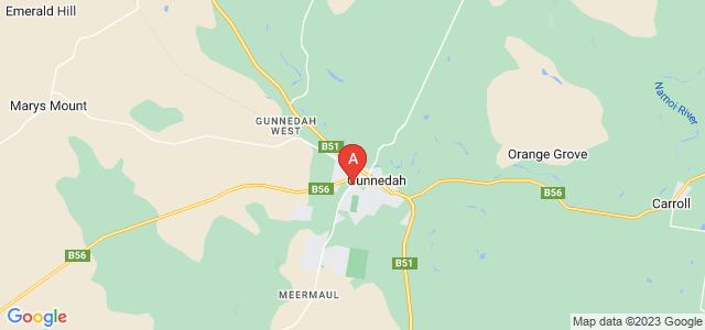 Google static map for Gunnedah