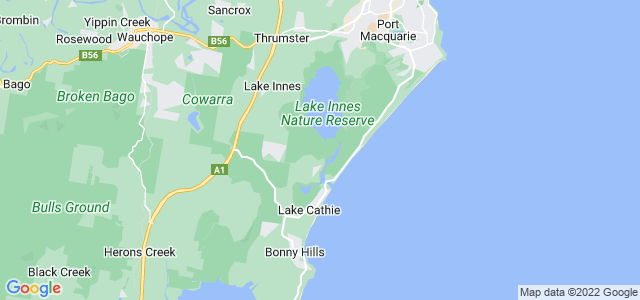 Google static map for Port Macquarie