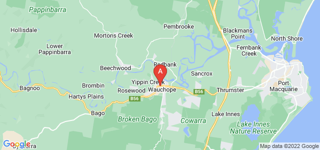 Google static map for Wauchope