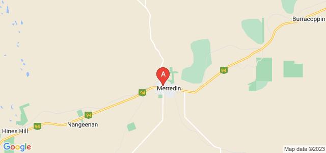 Google static map for Merredin