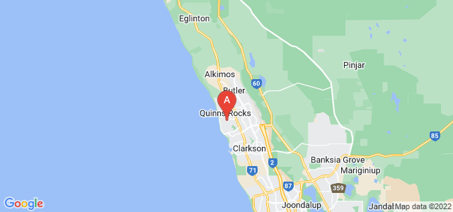 Google static map for Wanneroo