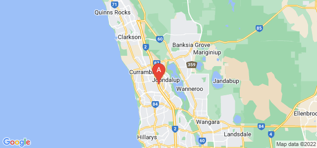 Google static map for Joondalup