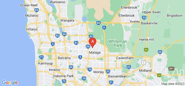 Google static map for Malaga