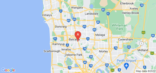 Google static map for Balcatta