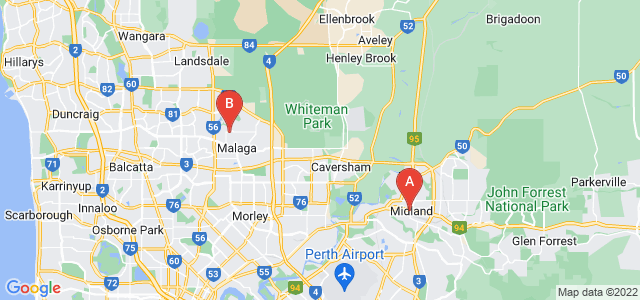 Google static map for Swan