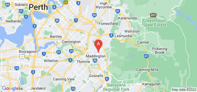 Google static map for Maddington