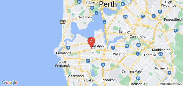 Google static map for Myaree