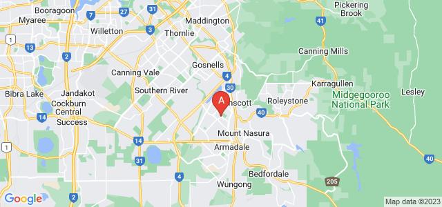 Google static map for Kelmscott