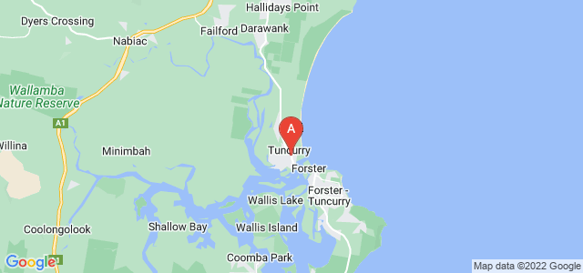 Google static map for Tuncurry