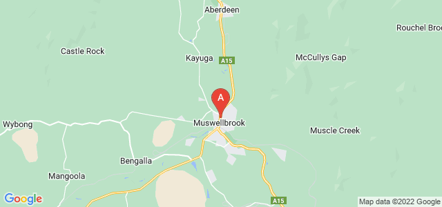Google static map for Muswellbrook