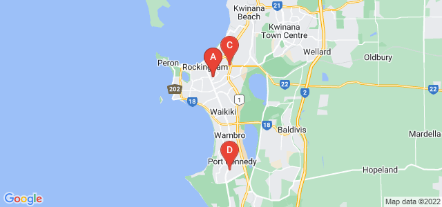 Google static map for Rockingham