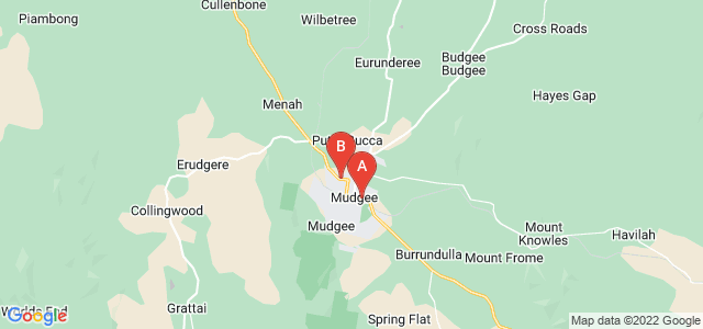 Google static map for Mudgee