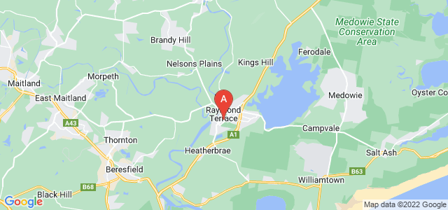 Google static map for Raymond Terrace