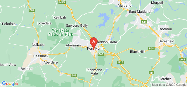 Google static map for Kurri Kurri