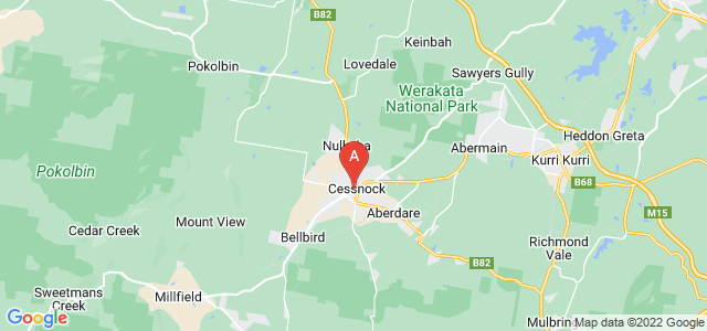Google static map for Cessnock