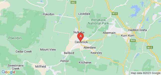 Google static map for Cessnock