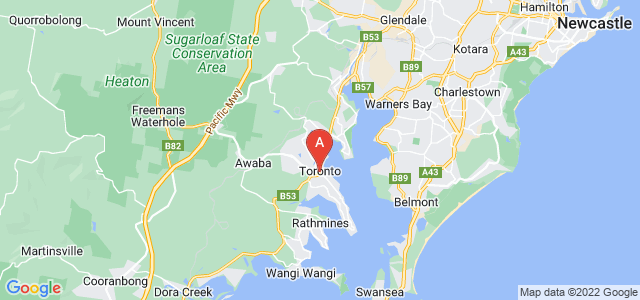 Google static map for Lake Macquarie