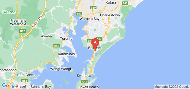 Google static map for Belmont
