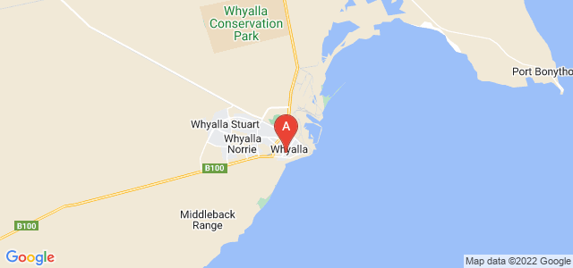 Google static map for Whyalla