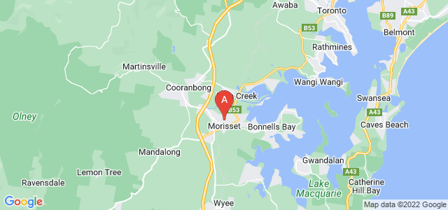 Google static map for Morisset