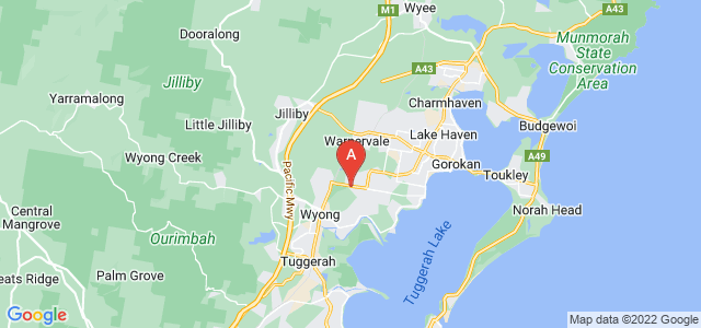 Google static map for Wyong