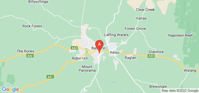 Google static map for Bathurst